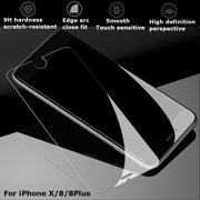 Clear Tempered Glass Full Cover HD Screen Protector Cover Full Coverage For iPhone X/8/8 Plus,Anti-Scratch,Anti-Shatter
