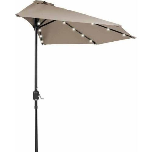 9' Patio LED Half Umbrella LED, Solar Powered by Trademark Innovations, Blue by Trademark Innovations