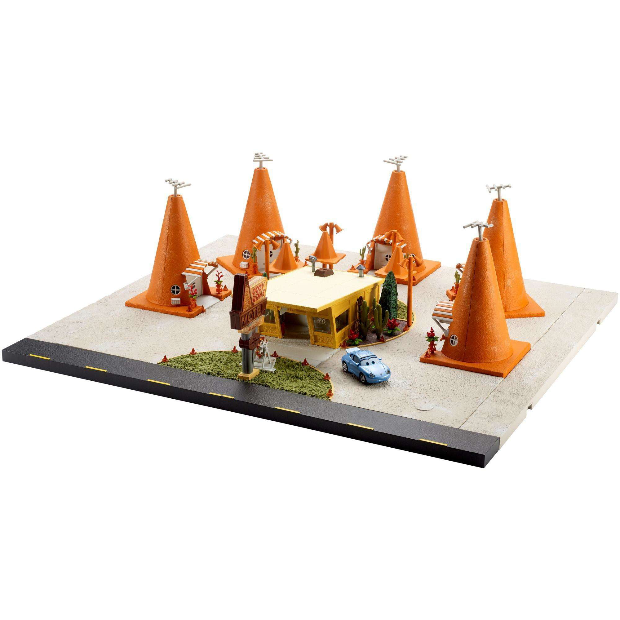 Disney Pixar Cars Precision Series Sally's Cozy Cone Motel Playset by Mattel