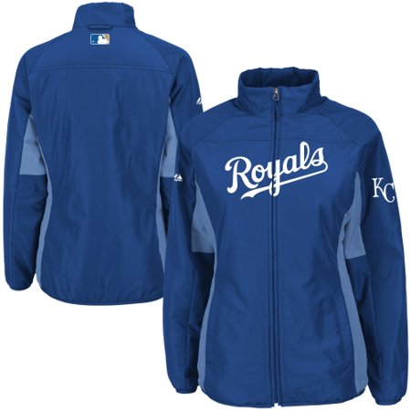 Kansas City Royals Majestic Women's Authentic Collection Double Climate Full Zip Jacket - Royal Womens Authentic Collection
