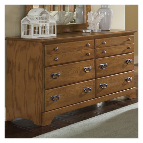 Carolina Furniture Works, Inc. Creek Side 6 Drawer Double Dresser