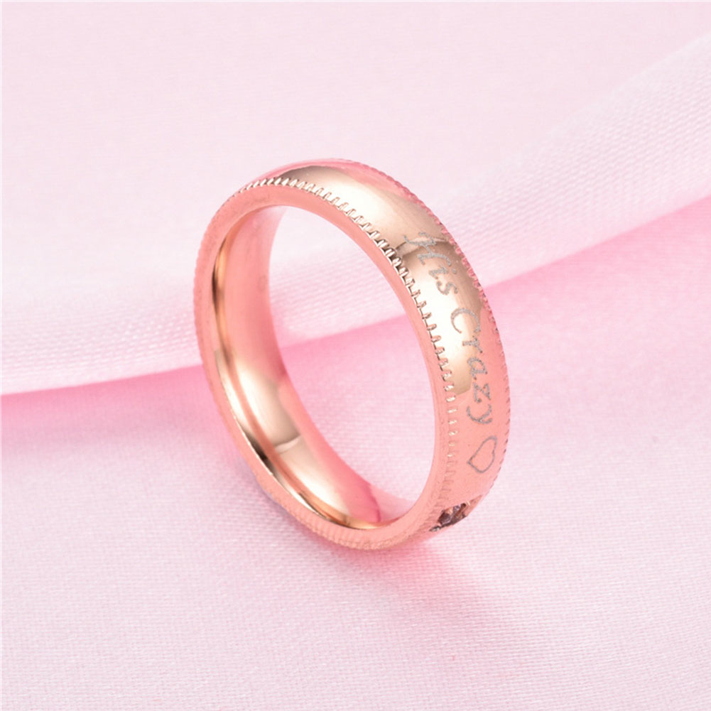 His Crazy Her Weirdo Couple Jewelry Lovers Promise Ring Wedding ...