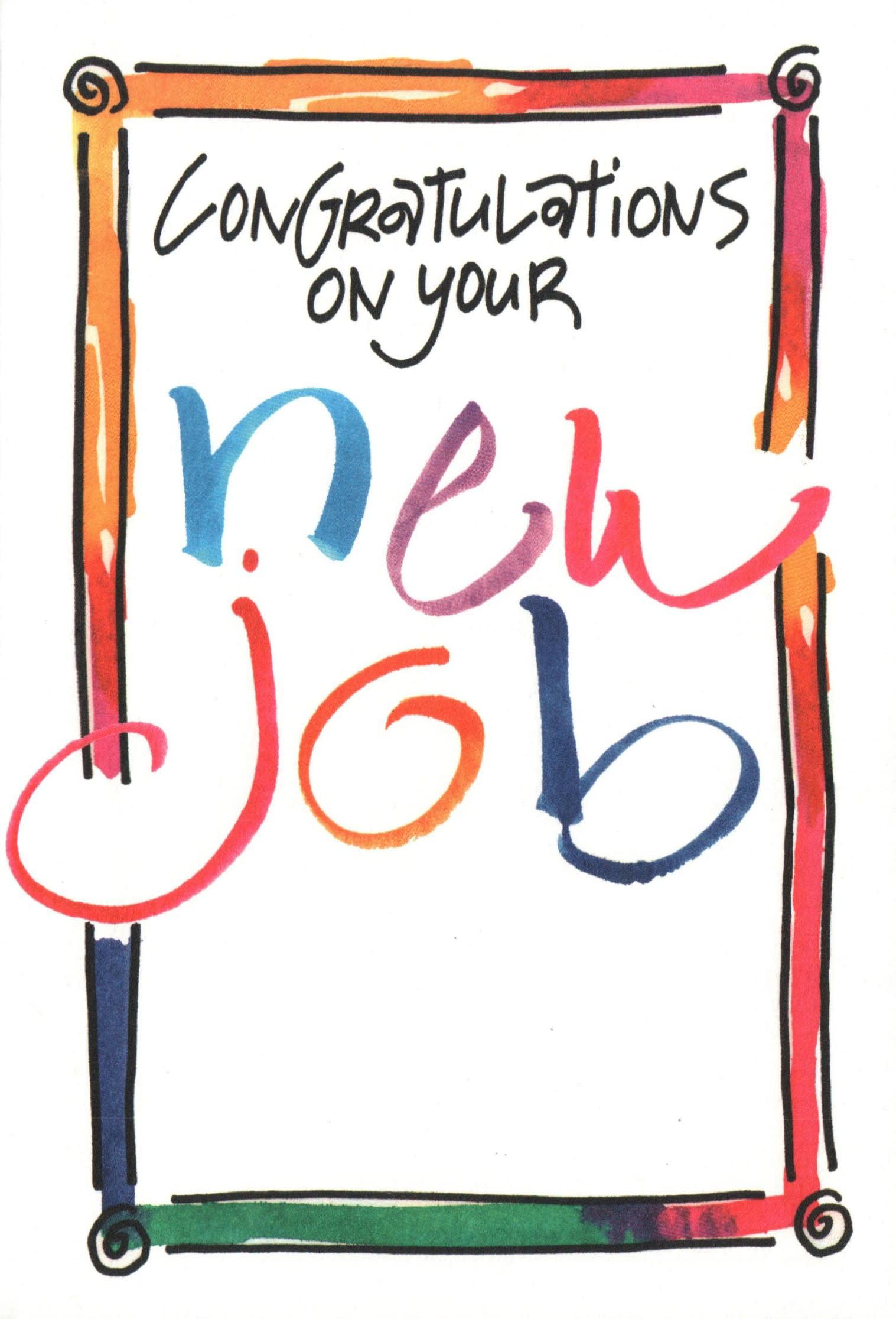 new job greeting card  wonderful destinations  walmart