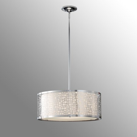 Feiss F2638/3CH Joplin Pendant - 19.75W in. Chrome