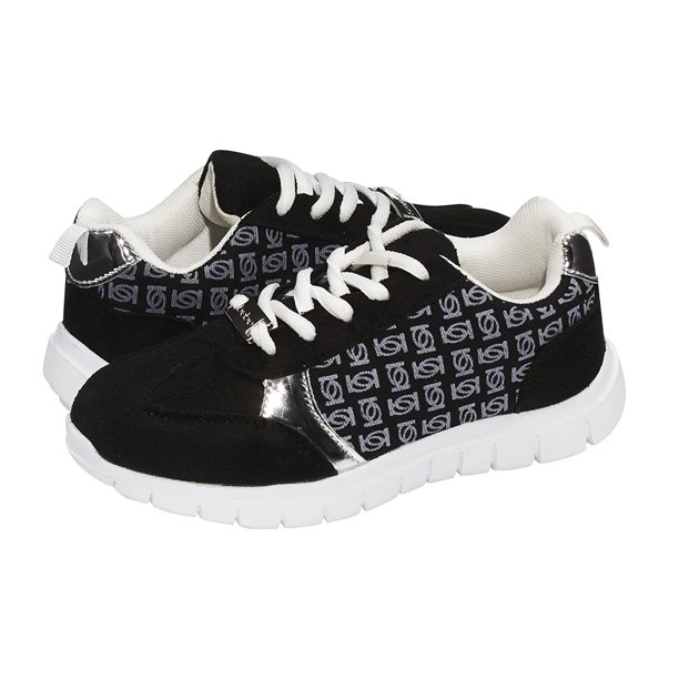 bebe Girls Big Kid Low Top Fashion Sneaker Shoes For Girls Light Weight Running Walking Casual Shoes 11/12 Black