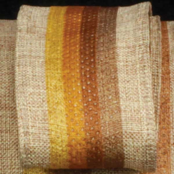 "Colorful Striped Surprise Natural Tan Wired Burlap Craft Ribbon 1.5"" x 40 Yards"
