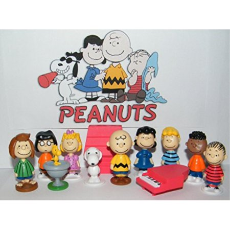 - Peanuts Movie Classic Characters Toy Figure Set of 13 with Snoopy, Woodstock, Dog House, Linus, Charlie and More with a Special Decorative Figure! by Peanuts