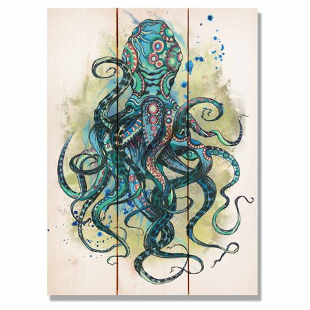 Daydream Colorful Blue Octopus Indoor/Outdoor Wall Art