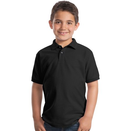 Port Authority Youth Silk Touch Wrinkle Resistant Polo Shirt