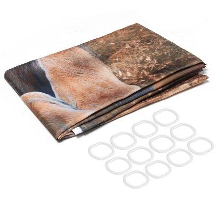 3Pcs Non-Slip Bathroom Toilet Seat Cover Bath Rugs Mat Pad Doormat + Shower Curtain Set Lion Home Decor Gift  - image 1 de 9