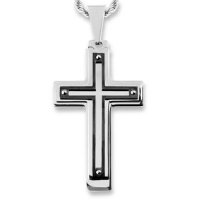 Black Cross Pendant Necklaces
