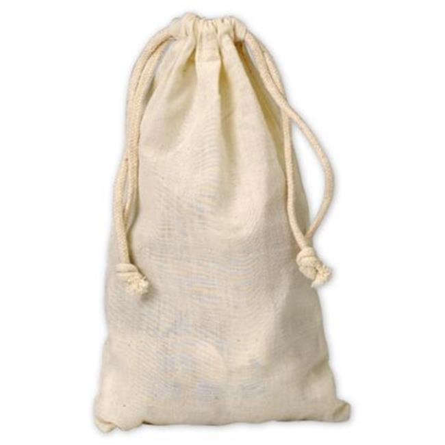 Deluxe Small Business Sales 927-02 5.75 x 9.75 in. Muslin Cloth Bags, White