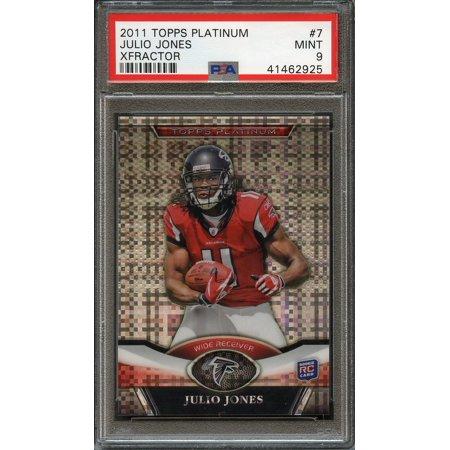 2011 Topps Platinum Xfractor 7 Julio Jones Atlanta Falcons Rookie Card Psa 9