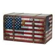 Household Essentials Jumbo Decorative Home Storage Trunk, Americana
