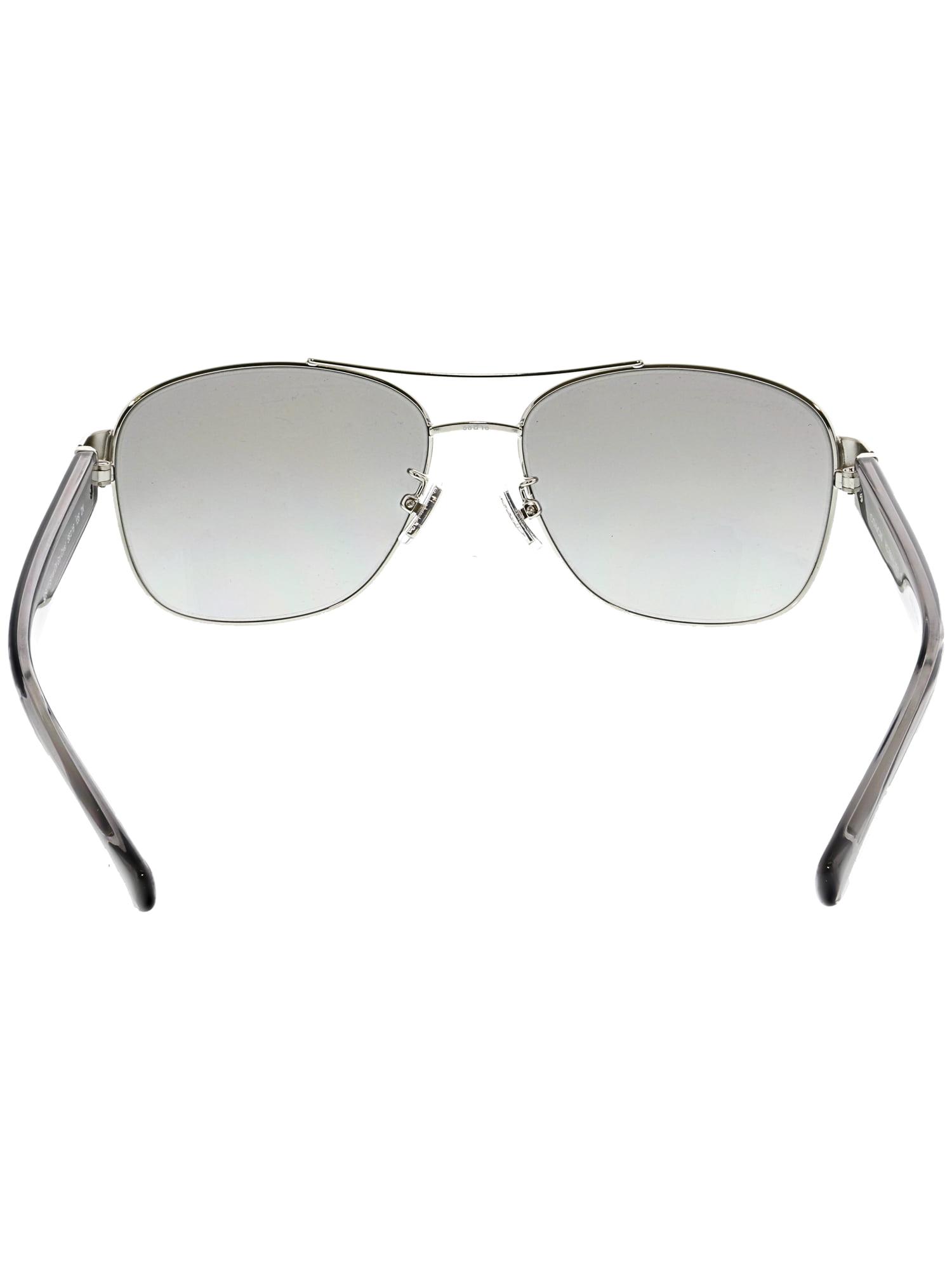 6805608f32 ... grey gradient lens 7a565 48e9c 67305 d6ad6  discount code for coach  womens hc7064 926411 56 silver aviator sunglasses 8914f 8d813