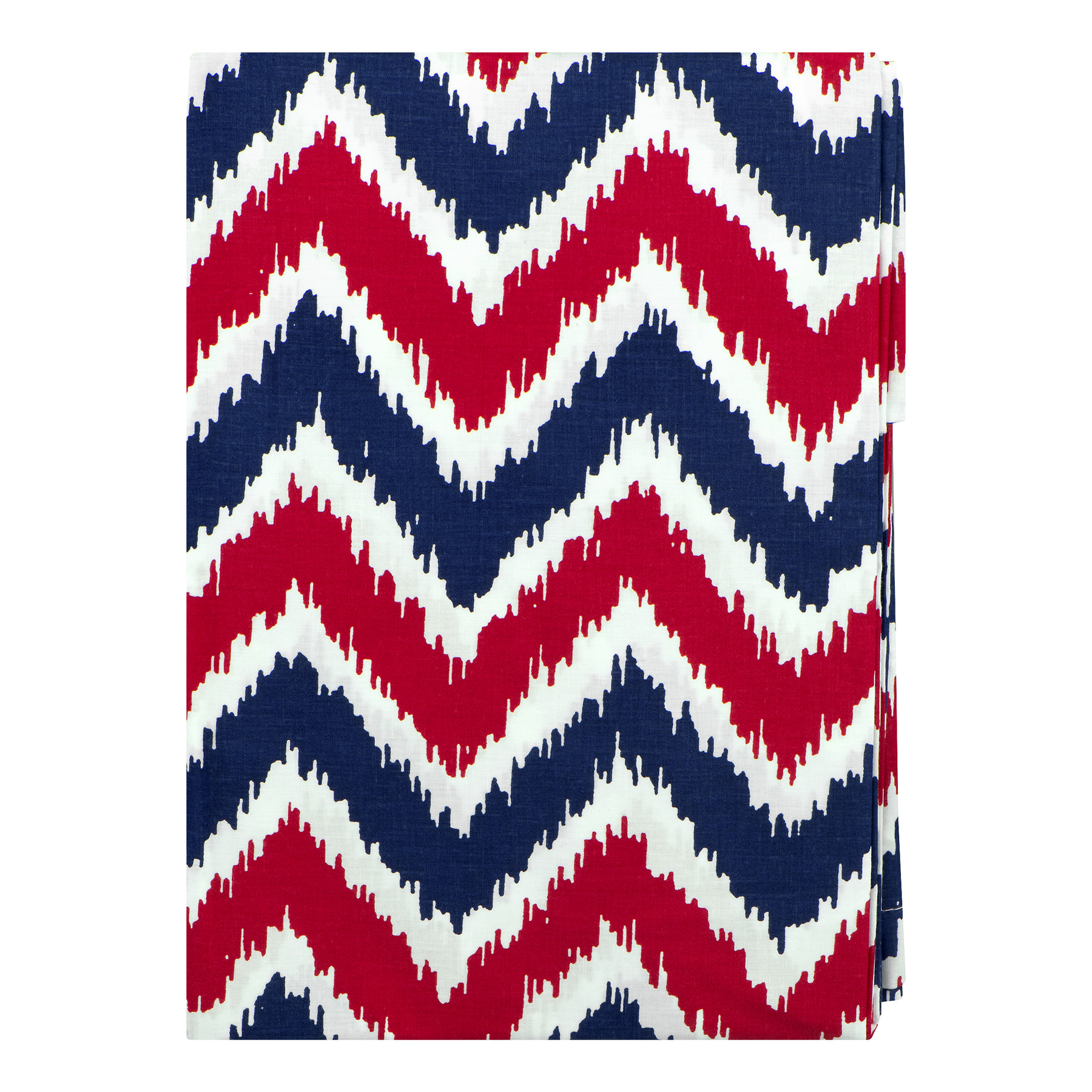 Bacati Curtain Panel Blue/Red Zigzag Mix N Match, 1.0 CT