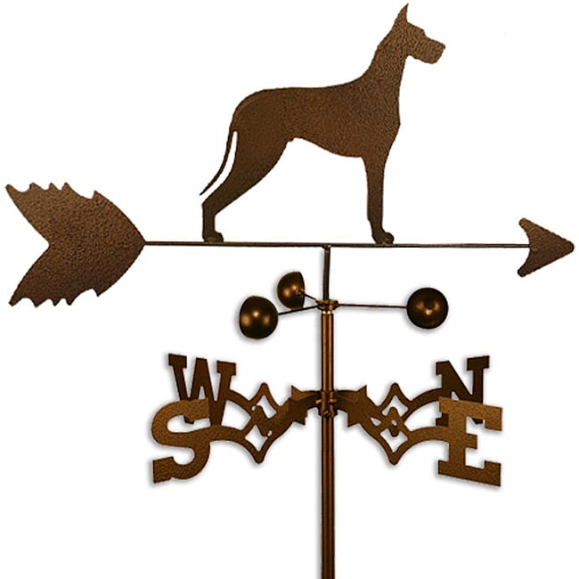 SWEN Products Inc Handmade Great Dane Dog Copper Weathervane by Overstock
