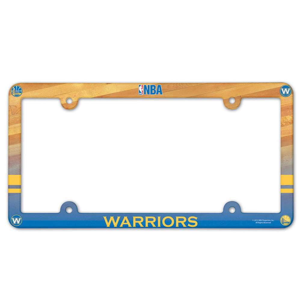 Golden State Warriors Plastic License Plate Frame