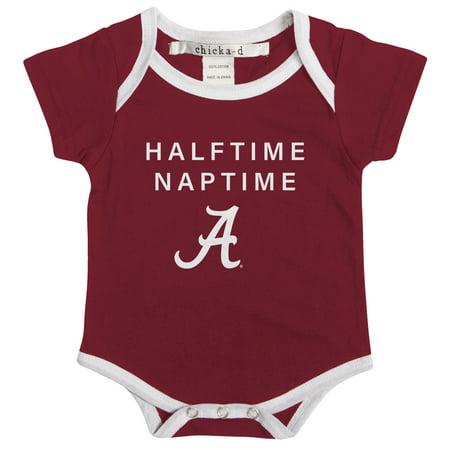 Alabama Crimson Tide Remote - Alabama Crimson Tide chicka-d Girls Newborn & Infant Nap Time Bodysuit - Crimson - 6-12 MO