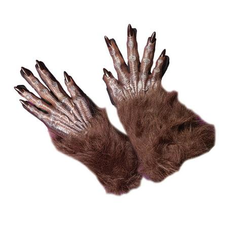 Werewolf Brown Gloves Adult Halloween Accessory
