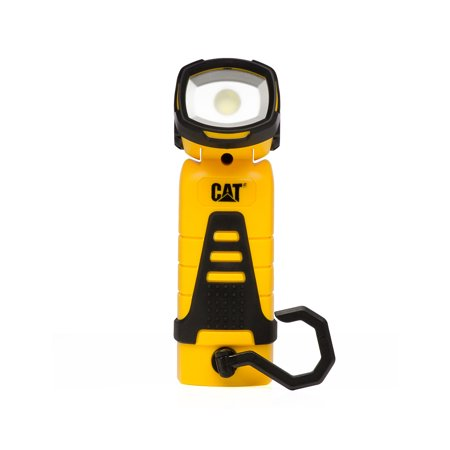 Caterpillar Black 140 Lumen Rechargeable Pivot Head LED Worklight with a Magnetic Base and Pivoting Hanger