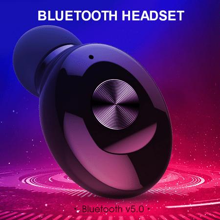 Wireless Bluetooth Stereo Headphone. Bluetooth V5.0 Earbud. Waterproof Sports Headset (Single+USB charging) - image 5 de 13