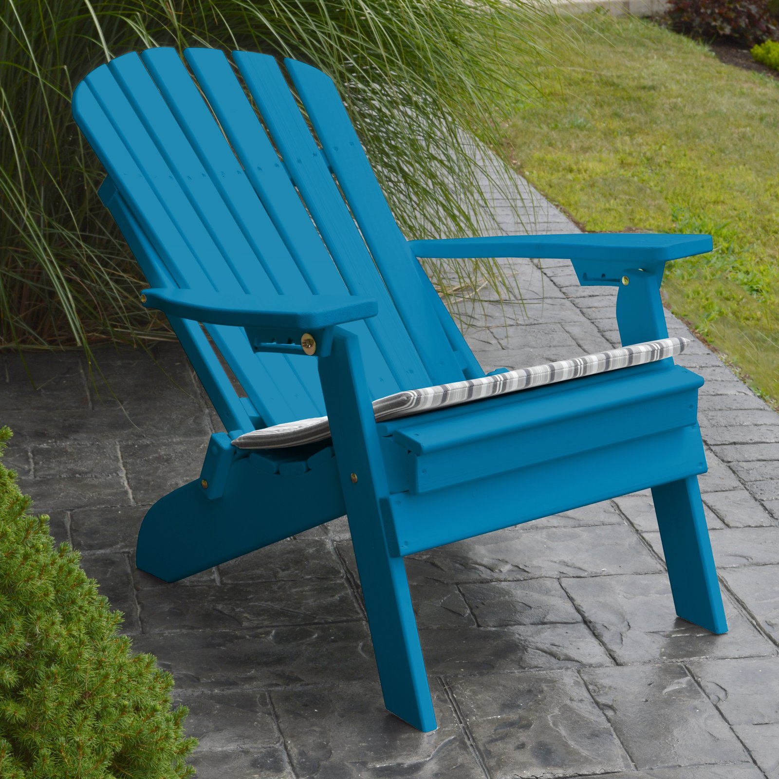 A & L Furniture Yellow Pine Folding Reclining Adirondack Chair