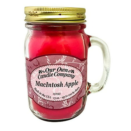 - MacIntosh Apple Scented 13 Ounce Mason Jar Candle By Our Own Candle Company