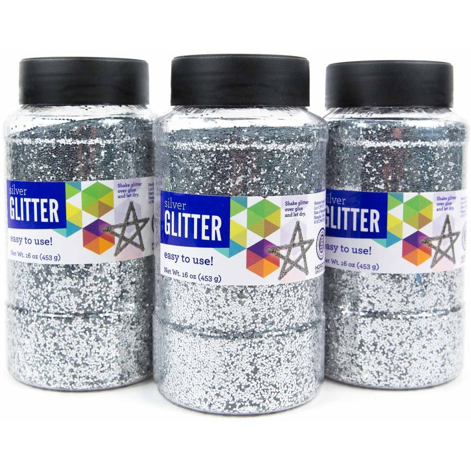 Horizon Group USA Silver Glitter 16 oz., 3pk