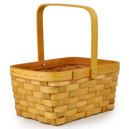 Rectangular Weave Swing Handle Wholesale Basket - Medium - Halloween Baskets Wholesale