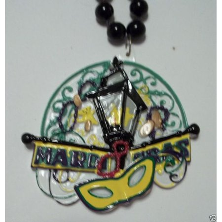 New Orleans Bourbon - Mask Mardi Gras Bourbon Lamp Post New Orleans Necklace Beads Bead