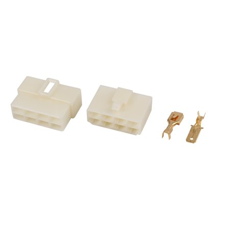 2 Sets Vehicle ABS White Circuit Electrical Wire Connector Male Female Cable - Abs Wire