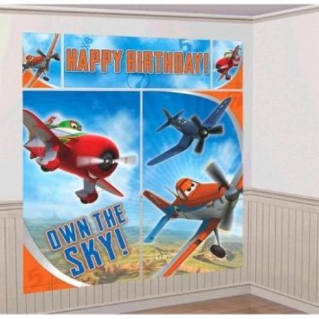 Disney Planes 2 Scene Setters Wall Decorating Kit Party (Party Scene Tape)