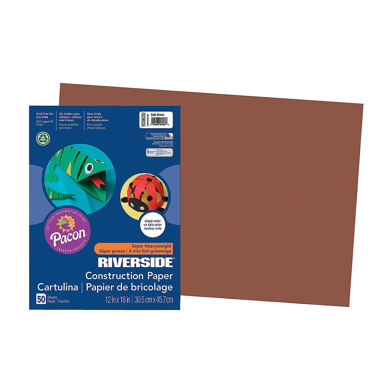Large Pacon® Riverside® Construction Paper - Dark Brown(pack of 6)