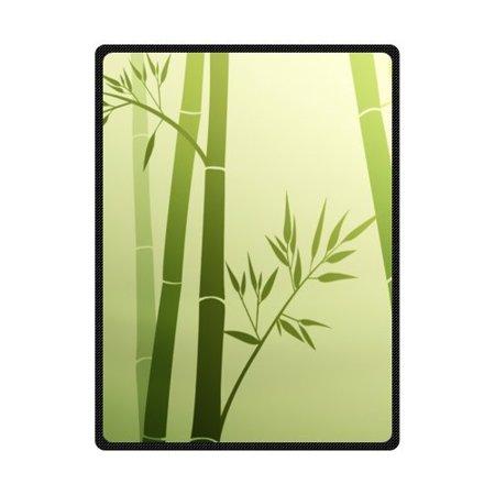 CADecor Beautiful Bamboo Life Fleece Blanket Throws 58x80 inches ()