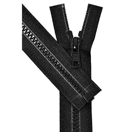 ZipperStop Wholesale Authorized Distributor YKK® Vislon Sport Zipper, YKK #5 Molded Plastic Separating Bottom 14