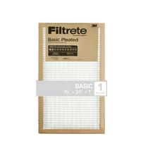 Filtrete 16X25x1, Filtrete Basic Pleated HVAC Furnace Air Filter, 100 MPR, 1 Filter