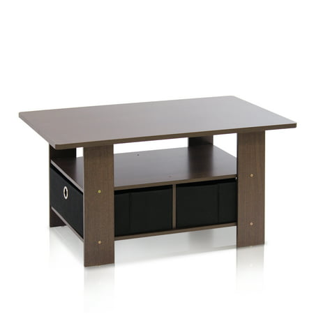 Furinno Andrey Coffee Table With Bin Drawer Multiple Colors