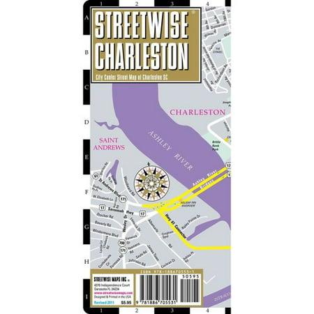 Streetwise Charleston City Center Street Map Of Charleston South Carolina