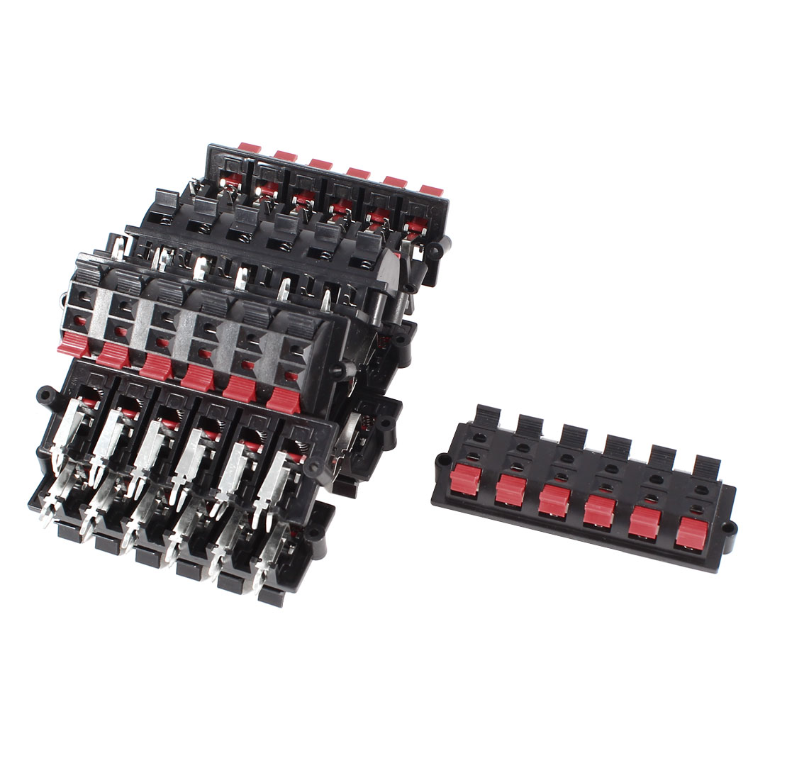 10 Pcs 12 Way Spring Loaded Speaker Terminals Board Connector 90x30mm