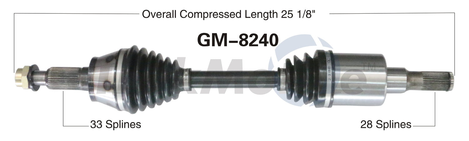 FRONT LEFT /& RIGHT CV Axle Shaft For HUMMER H3 2006-2010 H3T 2009-2010