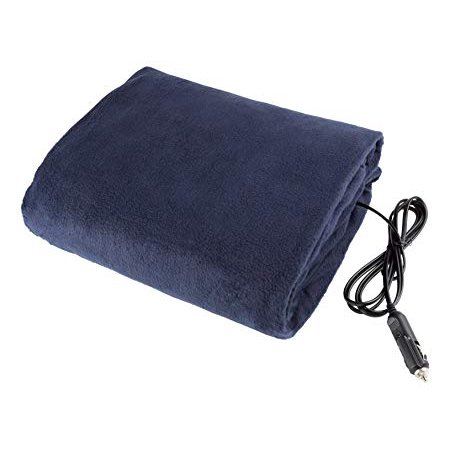 Stalwart 75-hblanket Electric Car Blanket- Heated 12 Volt Fleece Travel Throw for Car and RV-Great for Cold Weather, Tailgating, and Emergency Kits by -BLUE