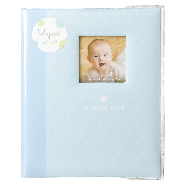 Tiny Ideas Polka Dot Memory Baby Book Blue Walmart Com Walmart Com