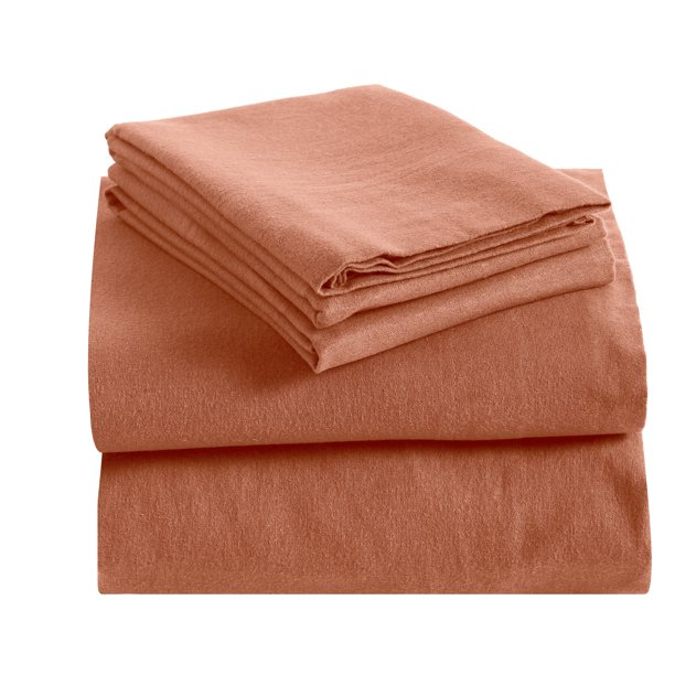 Floria Flannel California King Sheet Set Solid Desert Sand Walmart Com Walmart Com