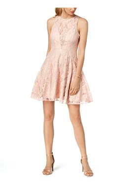 Xscape Womens Lace Fit & Flare Cocktail Dress