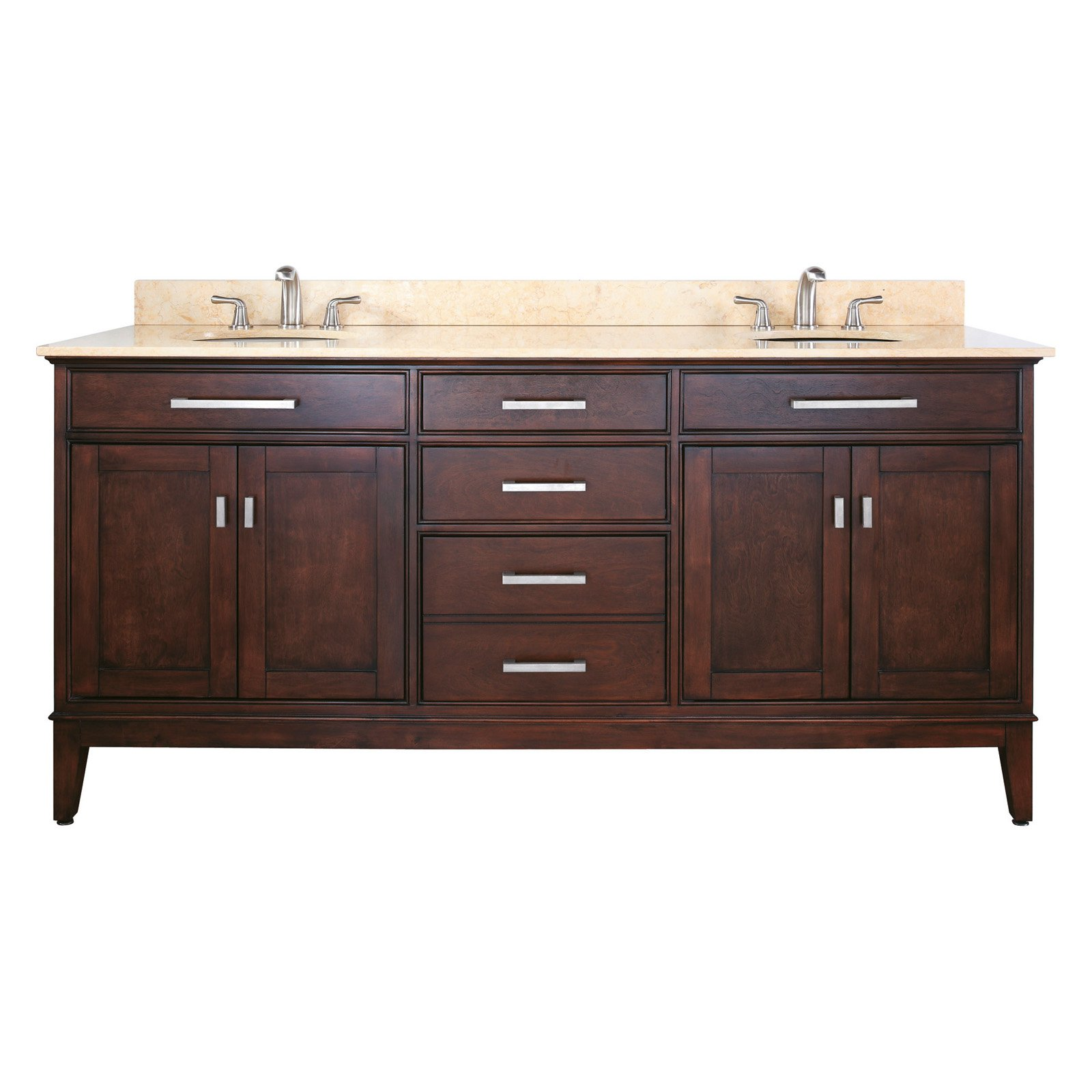 Avanity MADISON-VS72-LE Madison 72-in. Double Bathroom Vanity with Optional Mirrors