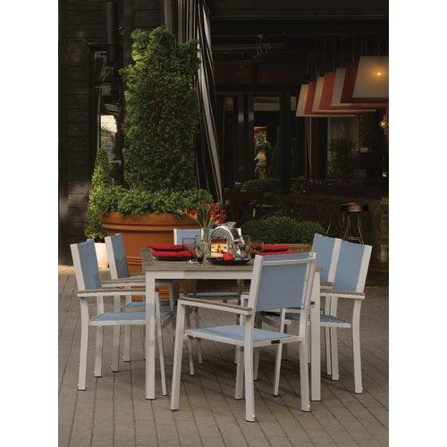 Sol 72 Outdoor Caspian Contemporary 7 Piece Dining Set