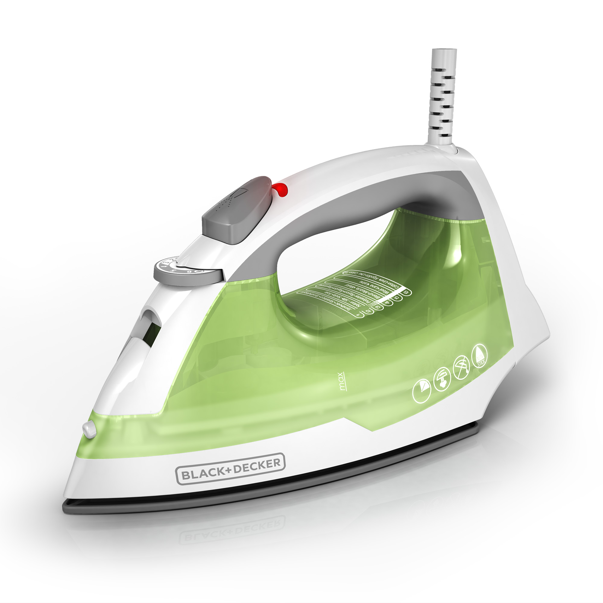 BLACK+DECKER Easy Steam Anti-Drip Compact Steam Iron, Green, IR02V