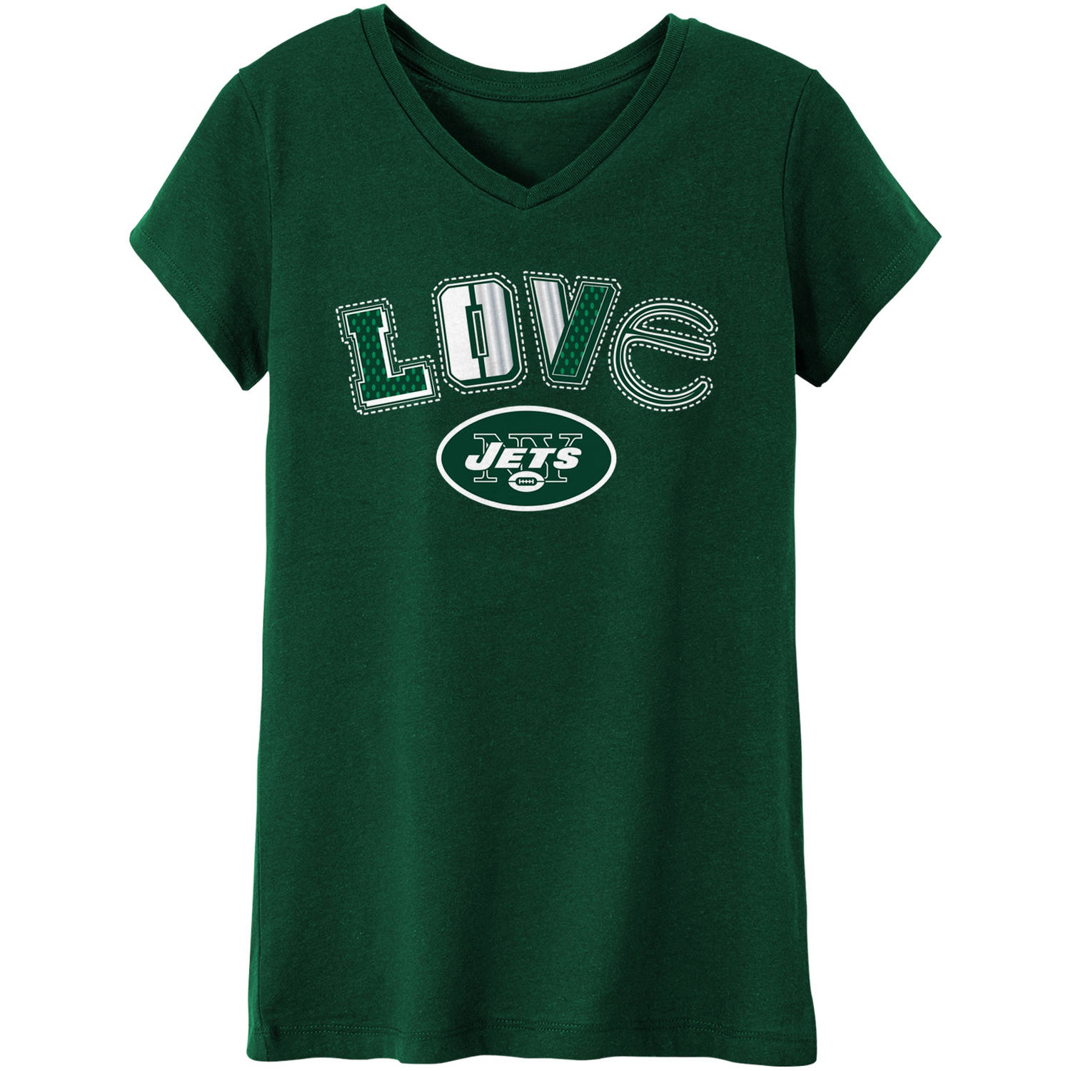 NFL New York Jets Girls Short Sleeve Cotton Tee