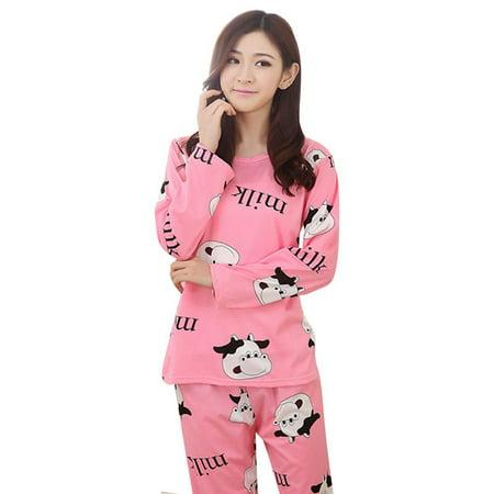 Lasher Big Girls' Panda Pattern Cute Long Sleeve Pajamas Nightwear Sleep Sets](Panda Pajamas)